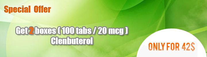 Buy Clenbuterol 20 mcg 2 boxes (100 tabs/20mcg)